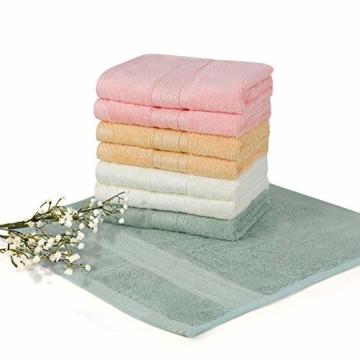 Yoofoss Seiftücher 8er Gästehandtücher 33 x 33cm Handtücher Set Waschlappen Saugfähig Gäste-WC Multifunktion Bambus - 6