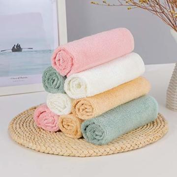 Yoofoss Seiftücher 8er Gästehandtücher 33 x 33cm Handtücher Set Waschlappen Saugfähig Gäste-WC Multifunktion Bambus - 7