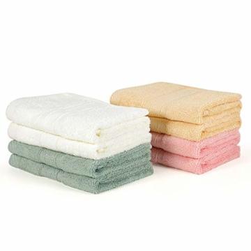 Yoofoss Seiftücher 8er Gästehandtücher 33 x 33cm Handtücher Set Waschlappen Saugfähig Gäste-WC Multifunktion Bambus - 8