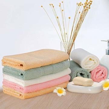 Yoofoss Seiftücher 8er Gästehandtücher 33 x 33cm Handtücher Set Waschlappen Saugfähig Gäste-WC Multifunktion Bambus - 9