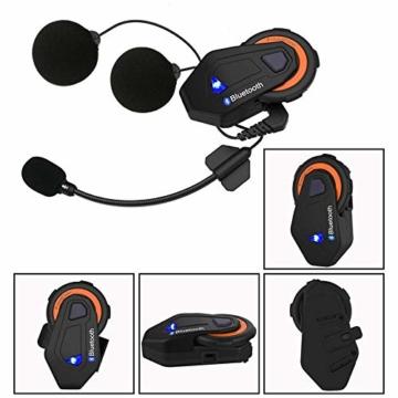ZFAME Off-Road-modulare Motorrad Bluetooth Helm Flip Front Doppelsonnenschirm Rennhelm mit Walkie-Talkie, FM-Radio, automatische Rufannahme,XXL(63cm~64cm) - 5