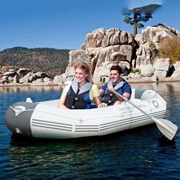 ZHAOJCQC Aufblasbare Kayaking 3 Personen Dickes Schlauchboot Gummiboot Fischerboot Wasserdichte Aluminiummasse - 4