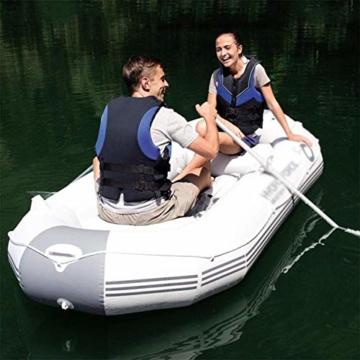 ZHAOJCQC Aufblasbare Kayaking 3 Personen Dickes Schlauchboot Gummiboot Fischerboot Wasserdichte Aluminiummasse - 5