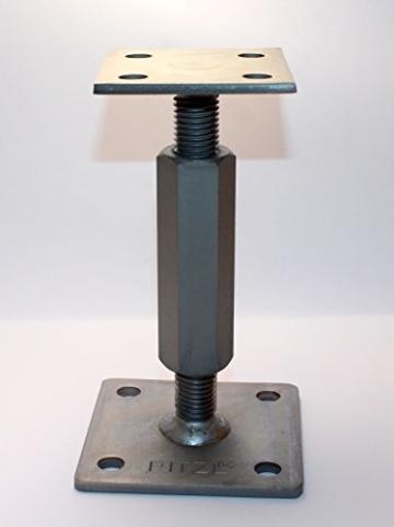 1 Stück Pitzl Pfostenträger Typ - P-Junior -ZiNiP höhenverstellbar, Nutzungsklasse 3 - 3