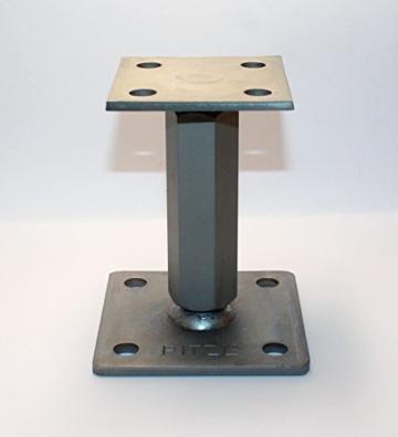 1 Stück Pitzl Pfostenträger Typ - P-Junior -ZiNiP höhenverstellbar, Nutzungsklasse 3 - 1