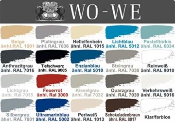 2K Poolfarbe Poolbeschichtung Schwimmbadfarbe - Hellelfenbein wie RAL 1015-2,5Kg - 2