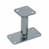 AllRight Pfostenträger höhenverstellbar Höhe 140-200 mm mit Platte 80 x 80 mm und verdecktem Anschluss Galvanisch Verzinkt zum Aufschrauben - 1