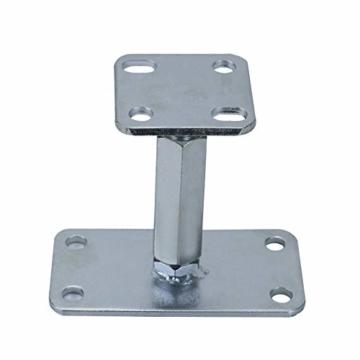 AllRight Pfostenträger höhenverstellbar Höhe 140-200 mm mit Platte 80 x 80 mm und verdecktem Anschluss Galvanisch Verzinkt zum Aufschrauben - 5