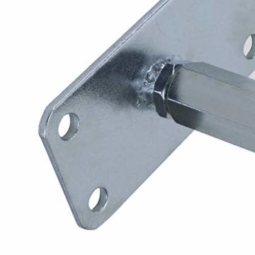 AllRight Pfostenträger höhenverstellbar Höhe 140-200 mm mit Platte 80 x 80 mm und verdecktem Anschluss Galvanisch Verzinkt zum Aufschrauben - 7
