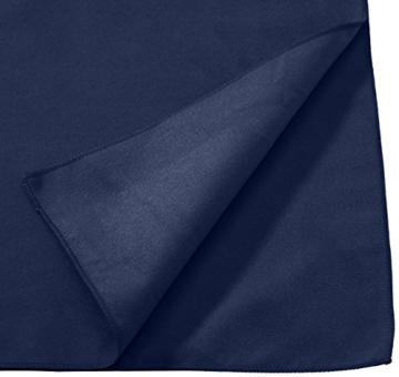 AmazonBasics Mikrofaser Badetuch , Schwarz/Blau, 180 x 90 cm - 2