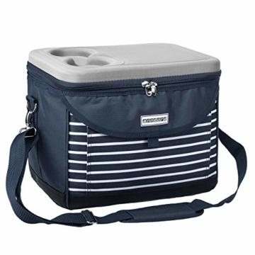 anndora Kühltasche 22 L Kühlbox 35 x 24 x 27 cm - blau weiß gestreift - 1