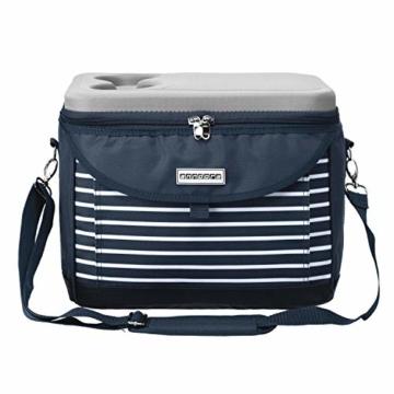 anndora Kühltasche 22 L Kühlbox 35 x 24 x 27 cm - blau weiß gestreift - 2