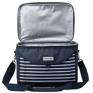 anndora Kühltasche 22 L Kühlbox 35 x 24 x 27 cm - blau weiß gestreift - 3