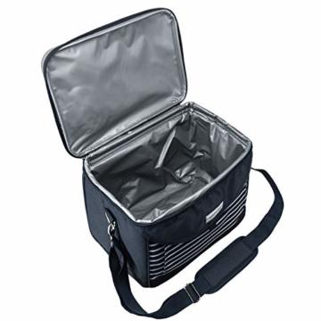 anndora Kühltasche 22 L Kühlbox 35 x 24 x 27 cm - blau weiß gestreift - 4