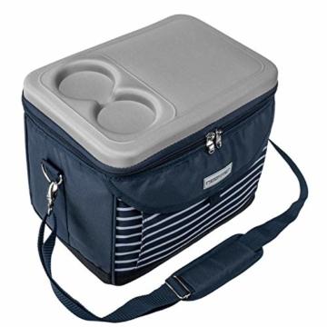 anndora Kühltasche 22 L Kühlbox 35 x 24 x 27 cm - blau weiß gestreift - 6