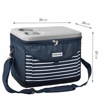 anndora Kühltasche 22 L Kühlbox 35 x 24 x 27 cm - blau weiß gestreift - 7