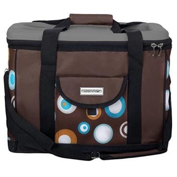 anndora Kühltasche XL braun hellblau 40 Liter - Kühlbox Isoliertasche Picknicktasche - 2