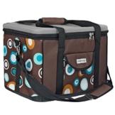 anndora Kühltasche XL braun hellblau 40 Liter - Kühlbox Isoliertasche Picknicktasche - 1