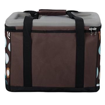 anndora Kühltasche XL braun hellblau 40 Liter - Kühlbox Isoliertasche Picknicktasche - 3