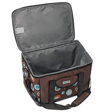 anndora Kühltasche XL braun hellblau 40 Liter - Kühlbox Isoliertasche Picknicktasche - 4