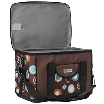 anndora Kühltasche XL braun hellblau 40 Liter - Kühlbox Isoliertasche Picknicktasche - 5