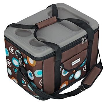 anndora Kühltasche XL braun hellblau 40 Liter - Kühlbox Isoliertasche Picknicktasche - 6