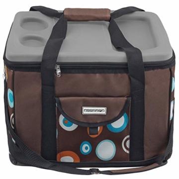 anndora Kühltasche XL braun hellblau 40 Liter - Kühlbox Isoliertasche Picknicktasche - 7