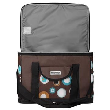 anndora Kühltasche XL braun hellblau 40 Liter - Kühlbox Isoliertasche Picknicktasche - 8