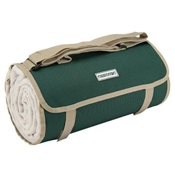 anndora Picknickdecke Wasserabweisende isolierende Unterseite 150x200 cm dunkelgrün beige Camping Strand Picknick - 1