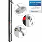 Arebos Solardusche 35 L | 217 cm | Regulierbare Wassertemperatur bis 60° | Mit Fußdusche | Schwenkbarer Duschkopf - 1