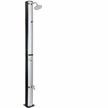 Arebos Solardusche 37 L | 199 cm | Regulierbare Wassertemperatur bis 60° | Mit Fußdusche und Thermometer | Schwenkbarer Duschkopf - 2
