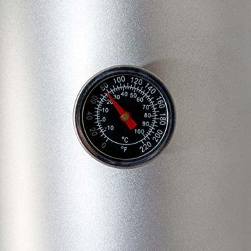 Arebos Solardusche 37 L | 199 cm | Regulierbare Wassertemperatur bis 60° | Mit Fußdusche und Thermometer | Schwenkbarer Duschkopf - 5