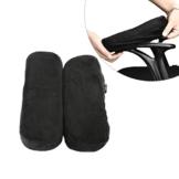 Arm-Eaz Armlehnen Polster für Bürostuhl und Spielstuhl, Memory-Schaum Armlehne Pads Arbeitsplatz Schreibtischstuhl Armlehnen Kissen für Ellenbogen Komfort - 1