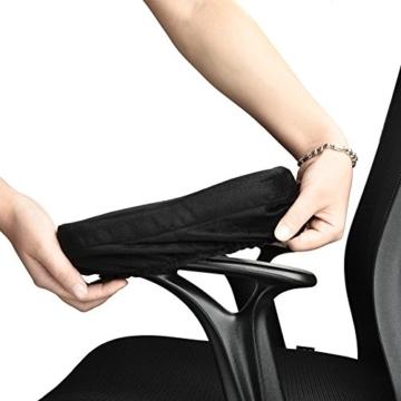 Arm-Eaz Armlehnen Polster für Bürostuhl und Spielstuhl, Memory-Schaum Armlehne Pads Arbeitsplatz Schreibtischstuhl Armlehnen Kissen für Ellenbogen Komfort - 3