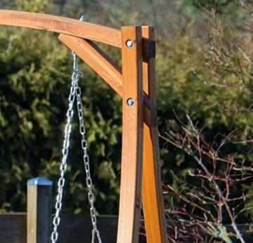 ASS Design Hollywoodschaukel Gartenschaukel Hollywood Schaukel aus Holz Lärche, Farbe:Grün - 2