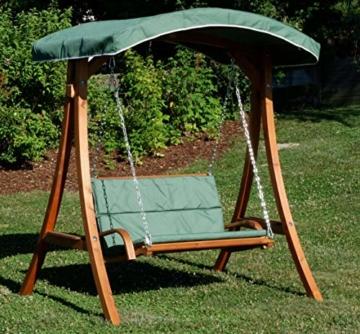 ASS Design Hollywoodschaukel Gartenschaukel Hollywood Schaukel aus Holz Lärche, Farbe:Grün - 7