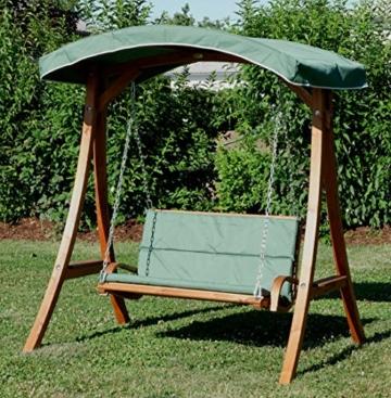 ASS Design Hollywoodschaukel Gartenschaukel Hollywood Schaukel aus Holz Lärche, Farbe:Grün - 9