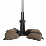 Baser Sonnenschirmständer mit befüllbarer Sandsäcken 30 kg/40 kg/50 kg. Alternativ zum Granit Sonnenschirmständer mit Rollen. Befüllbar Sonnenschirm Schirmständer mit Tragegriff (40 KG, Dunkelbraun) - 1