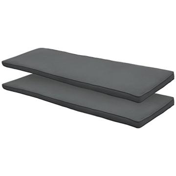 Beautissu Hollywoodschaukel Auflage Loft HS 180x50cm Auflagen für 3-Sitzer Hollywoodschaukel mit Rücken-Kissen Graphitgrau erhältlich - 2