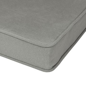 Beautissu Hollywoodschaukel Auflage Loft HS 180x50cm Auflagen für 3-Sitzer Hollywoodschaukel mit Rücken-Kissen Hellgrau erhältlich - 5