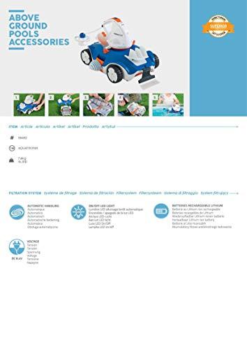 Bestway Flowclear akkubetriebener, automatischer Poolsauger Aquatronix für Poolgrößen bis 45 m² - 8