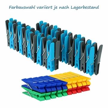 com-four® 200 Wäscheklammern im Sparpack in verschiedenen Trendfarben [Auswahl variiert] (200 Stück - Klammern) - 2
