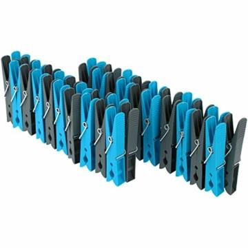com-four® 200 Wäscheklammern im Sparpack in verschiedenen Trendfarben [Auswahl variiert] (200 Stück - Klammern) - 3