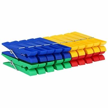 com-four® 200 Wäscheklammern im Sparpack in verschiedenen Trendfarben [Auswahl variiert] (200 Stück - Klammern) - 4