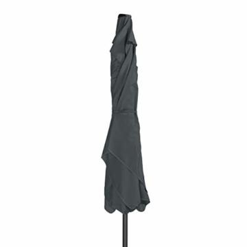 Derby Basic Lift NEO 250x200 – Rechteckiger Sonnenschirm – Höhenverstellbar – ca. 250x200 cm – Anthrazit - 3
