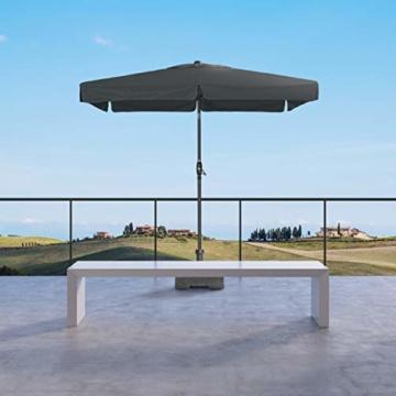 Derby Basic Lift NEO 250x200 – Rechteckiger Sonnenschirm – Höhenverstellbar – ca. 250x200 cm – Anthrazit - 7