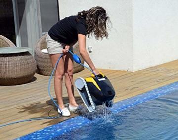 Dolphin E25 Automatischer Schwimmbad-Reinigungsroboter. Handlicher, leichter und einfach zu reinigender Sauger. Ideal für in den Boden eingelassene und auf der Erde aufgestellte Schwimmbecken - 7