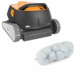 Dolphin Poolroboter E30 Automatischer Poolreiniger Poolsauger mit PVC Bürste und time4wellness Poly Filter Compact Tube - 1