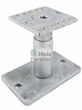 EUROTEC Pedix Pfostenträger, höhenverst. 140-190mm, unsichtbare Verschraubung - 1