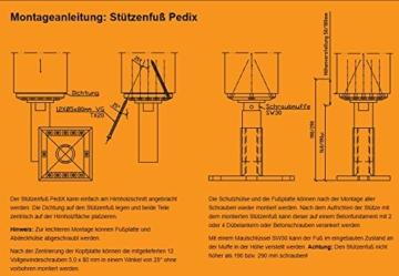 EUROTEC Pedix Pfostenträger, höhenverst. 140-190mm, unsichtbare Verschraubung - 2